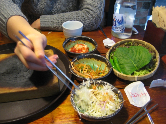 Korean side dishes. Nom.